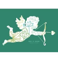 Mysterious green garden shooting cupid vector