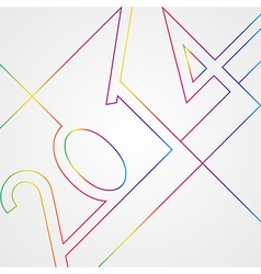 New Year 2014 abstract background vector image
