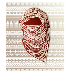 nomad with headscarf ornamented with ethnic design vector image