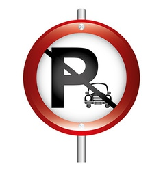 parking sign vector image