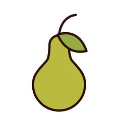 Pear fruit fresh harvest line fill icon vector