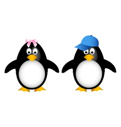 penguin family with child vector image