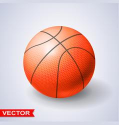 photorealistic orange basketball ball vector image