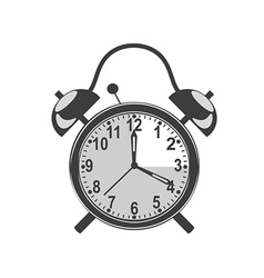 retro black alarm clock vector image