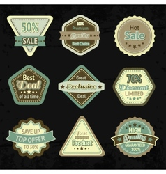 Sale labels and badges design set vector