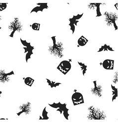 set halloween seamless pattern vector image