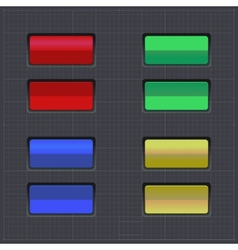 Set of colored buttons Web element vector