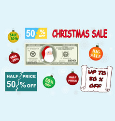 set of various design elements for your christmas vector image