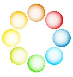 shaded circles spheres on white eps 10 vector image