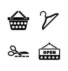 shopping store simple related icons vector image
