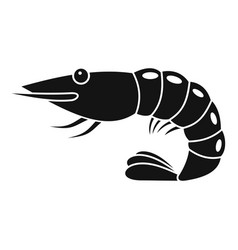 Shrimp icon simple style vector