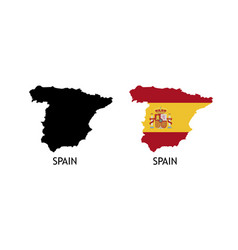 Silhouette spain on white color vector
