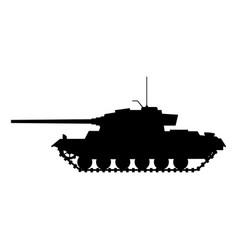 Silhouette tank german world war 2 tiger i heavy vector