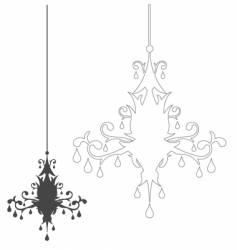 simple chandelier vector image