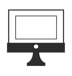 simple computer icon vector image