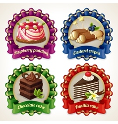 Sweets ribbon banners vector