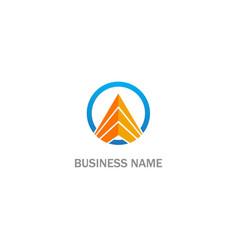 triangle shape round business company logo vector image