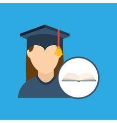 University graduation cap vector