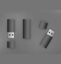 usb stick flash drive vector image
