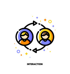 User interaction people communication or customer vector