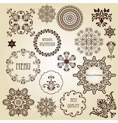 vintage design elements vector image