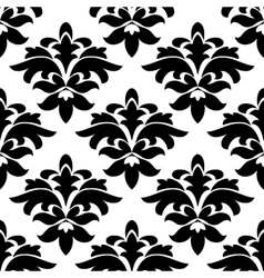 Vintage floral black and white arabesque seamless vector image vector image