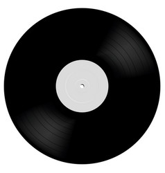 Vinyl lp record in realistic style black musical vector