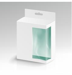 white blank cardboard rectangle white vector image