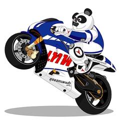 Panda motorcycle Racing vector image