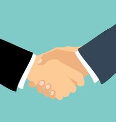 Partner handshake vector image