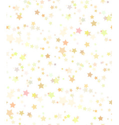 seamless texture of gold stars on white background vector image