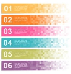 Set of colorful pixel banners vector image vector image