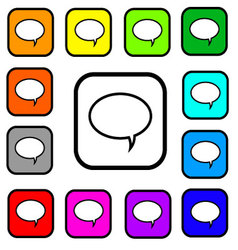 Bubble Square Icons vector image vector image