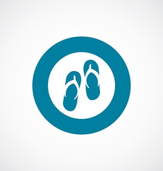 thongs icon bold blue circle border vector image