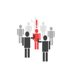 different person from crowd vector image