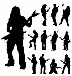 guitar players vector image vector image