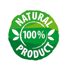 logo round seal for natural products vector image vector image