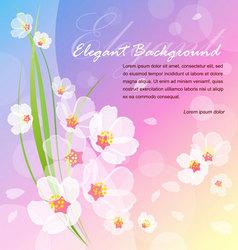 summer blossom vector image