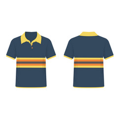 t-shirt polo blue and yellow template for design vector image