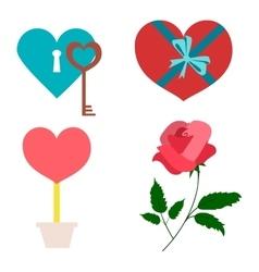 Valentines symbols vector image vector image