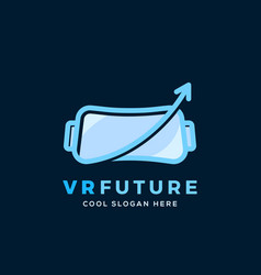 virtual reality future abstract sign vector image