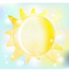 beautiful sun vector image vector image