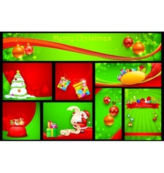 Christmas Background Template vector image