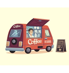 Coffee van vector image