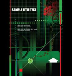 grunge high tech background vector image vector image