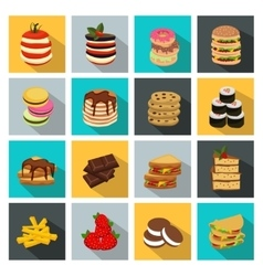 Meal Icon Set vector image vector image
