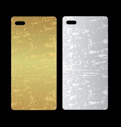 metal phone case template cover phone or case vector image vector image