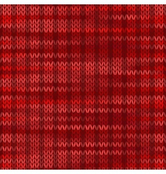 Style Seamless Knitted Melange Pattern Red Color vector image vector image