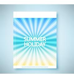Summer rays holiday vintage on light sea report vector