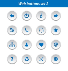 Web buttons set 2 vector image vector image
